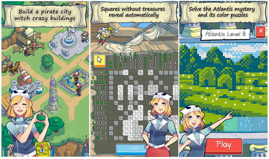 Free - Puzzle Cross Pirates v5 - featured in the appstore